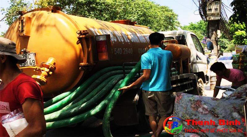 Dịch vụ hút bể phốt tại Vĩnh Phúc giá rẻ
