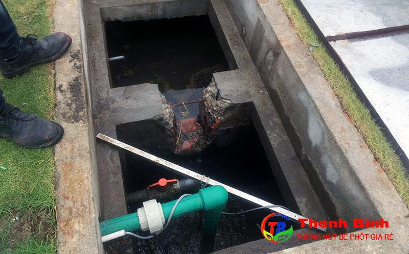Hố ga thoát nước thải trong các nhà máy, khu công nghiệp