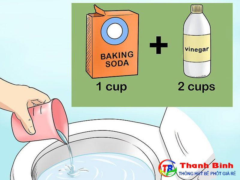Cách thông tắc bồn cầu bằng Baking soda (muối nở)