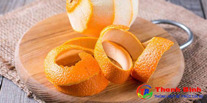 Cách khử mùi phòng ẩm mốc bằng vỏ cam, vỏ quýt