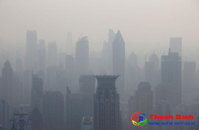 Hình ảnh ô nhiễm không khí ở Bắc Kinh (Trung Quốc)