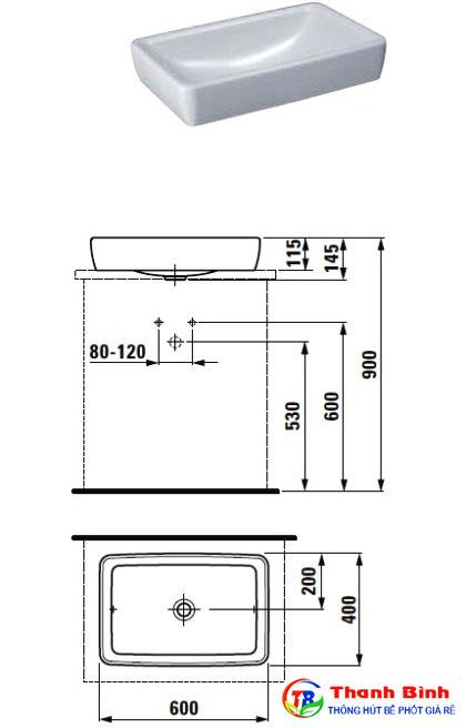Tiêu chuẩn kích thước lắp đặt chậu rửa mặt, lavabo