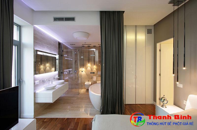 Mẫu thiết kế phòng ngủ 25m2 có Toilet