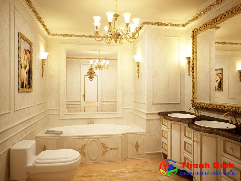 Các mẫu thiết kế nhà vệ sinh tự hoại tân cổ điển